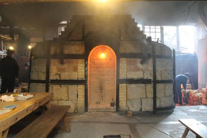 窯焚き  窯上げ風景   -2012年3月-