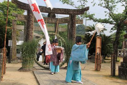 有田 八阪神社  夏越祓の神事 (2012年6月1日)