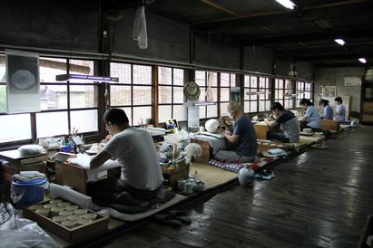 染付座(下絵付)の風景 (2012年6月30日)