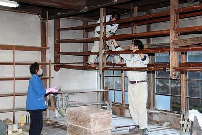 今右衛門工房の大掃除(2012年12月29日)