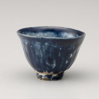 瑠璃釉ぐい呑  古伊万里様式  17世紀前期