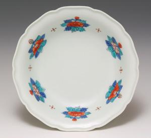 花絵果物皿(ベリー皿)